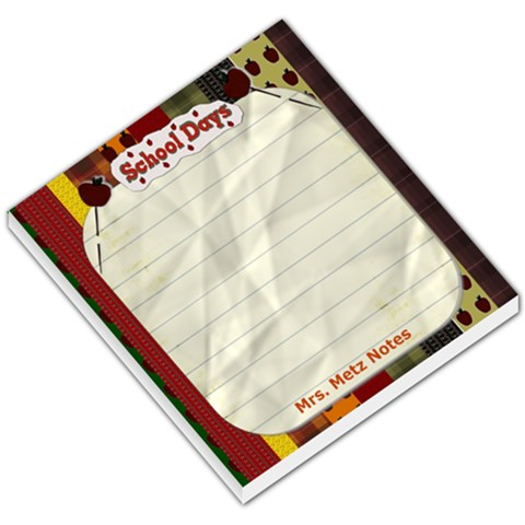 Teacher Gift Memo Pad By Danielle Christiansen   Small Memo Pads   H42bimu6cw85   Www Artscow Com