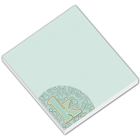 Blue And Brown Monogram Memo By Klh   Small Memo Pads   Cy1566nabmyg   Www Artscow Com