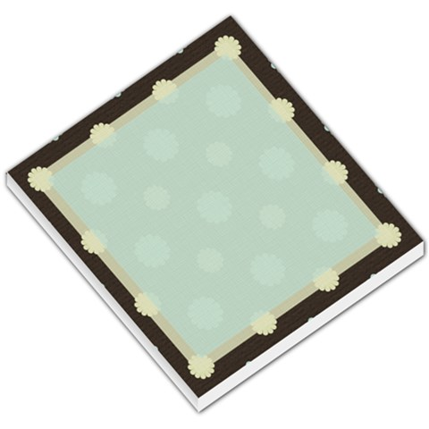 Blue And Brown Flower Memo By Klh   Small Memo Pads   3jj02qdkbs5u   Www Artscow Com