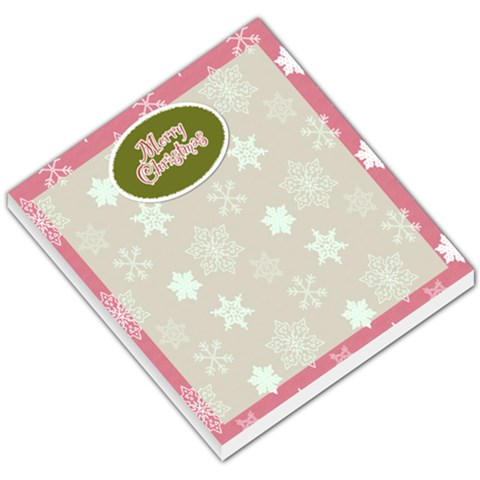 Pink Snowflake Merry Christmas Memo By Klh   Small Memo Pads   V24ptmllc9vs   Www Artscow Com