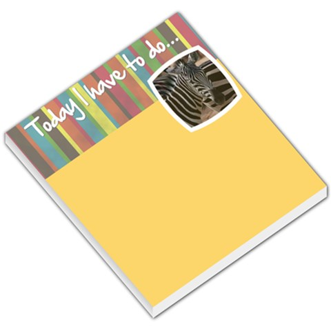Today I Have To Do    Memo Pad By Carmensita   Small Memo Pads   1ruq07rm372t   Www Artscow Com