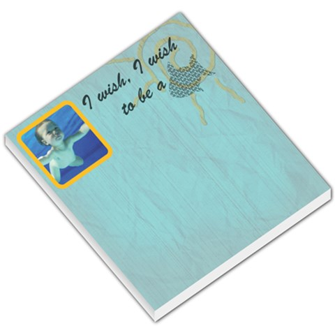 I Wish I Wish To Be A Fish   Memo Pad By Carmensita   Small Memo Pads   1rbrb52kn0uy   Www Artscow Com