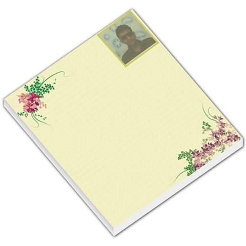 Flower Memo Pad By Ashwin   Small Memo Pads   Ql3yis26ay15   Www Artscow Com