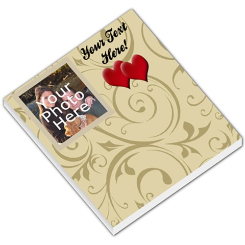Heart Memo Pad By Angela   Small Memo Pads   Afc6ydt4z5fo   Www Artscow Com