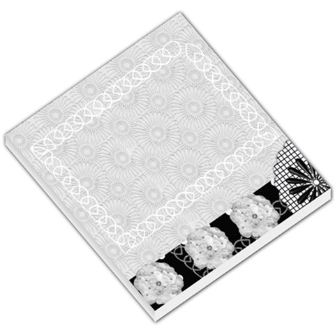 Black And White Small Memo Pad By Ashwin   Small Memo Pads   Sj942tynhe4a   Www Artscow Com