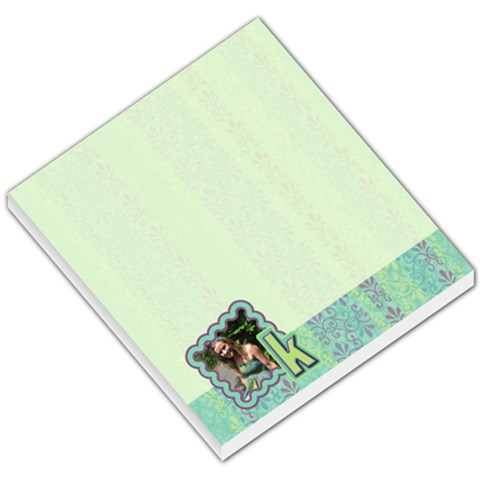 Blue Photo Monogram Memo By Klh   Small Memo Pads   Yaancvs6gy66   Www Artscow Com