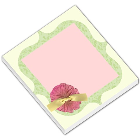 Green And Pink Flower Memo By Klh   Small Memo Pads   4hvalcdehtwb   Www Artscow Com