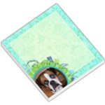 Blue Green Flower Dog Memo - Small Memo Pads