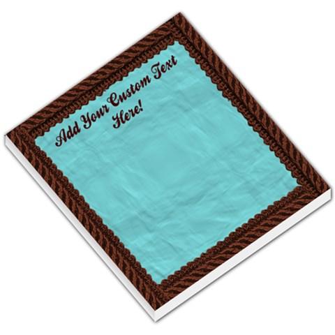 Brown And Aqua Rope Memo Pad By Angela   Small Memo Pads   Wgnl7rtqh3u9   Www Artscow Com