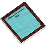 Brown and Aqua Rope Memo Pad - Small Memo Pads