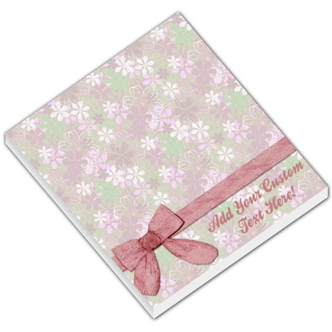 Lovely Pink Bow Memo Pad By Angela   Small Memo Pads   L6d40cwygznw   Www Artscow Com