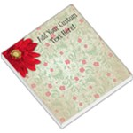 Vintage Red Flowers Memo Pad - Small Memo Pads