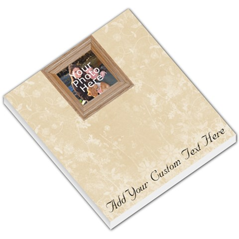 Classy Photo Memo Pad By Angela   Small Memo Pads   6zh679grm2hn   Www Artscow Com