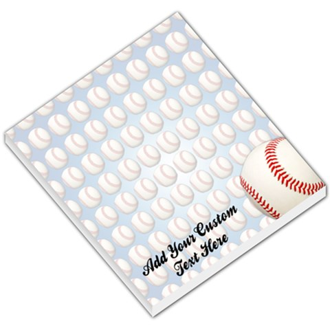 Baseball Memo Pad By Angela   Small Memo Pads   Hgt1907nmkco   Www Artscow Com