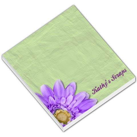 Green And Purple Daisy Memo Pad By Kathy Brandt   Small Memo Pads   V2parhxsomry   Www Artscow Com