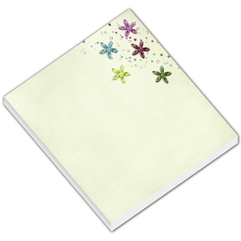 Memo Pad  Flowers And Glitter By Mikki   Small Memo Pads   L4oo90h6ndf4   Www Artscow Com