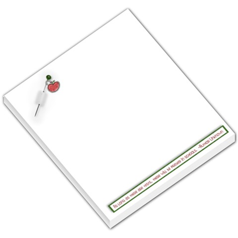 Memo Pad  Teacher Gift, School By Mikki   Small Memo Pads   Xnkcoz3btqme   Www Artscow Com