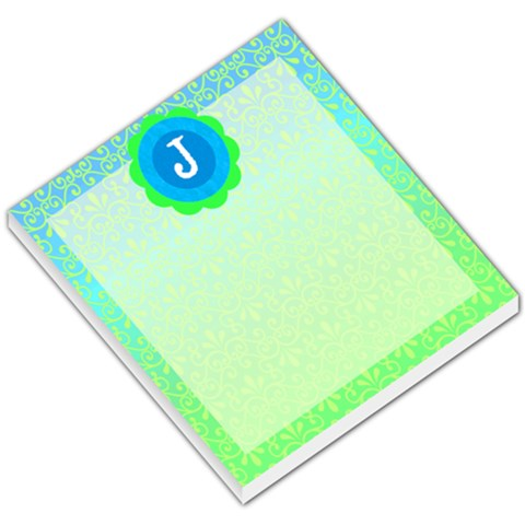 Turquoise Green J Monogram Memo By Klh   Small Memo Pads   Np1123ulk8pl   Www Artscow Com