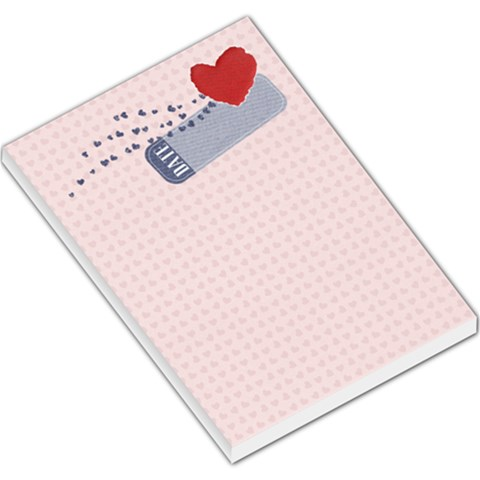 Large Memo Template  Hearts By Mikki   Large Memo Pads   Dpcmlu93kqpf   Www Artscow Com
