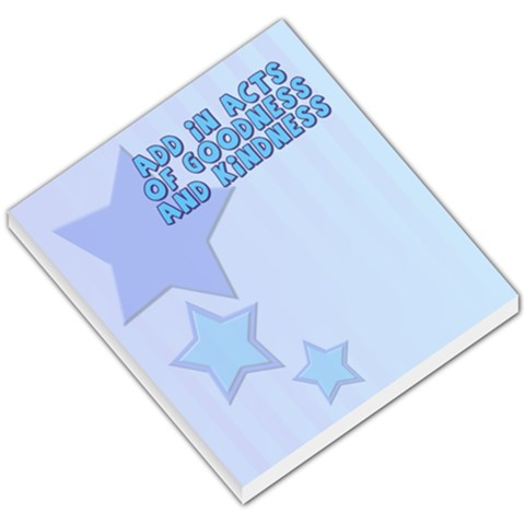 Goodness Memo Pad By Add In Goodness And Kindness   Small Memo Pads   Jfa550e3tc6j   Www Artscow Com