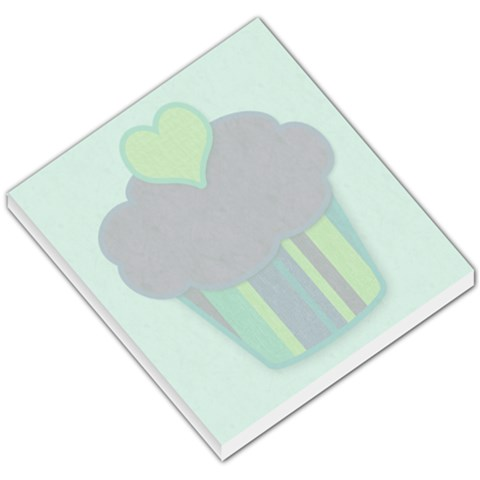Big Cupcake Blue Background Memo By Klh   Small Memo Pads   60qk9if9ip9i   Www Artscow Com