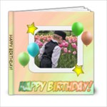 Happy Birthday Sherbet 6x6 Photo Book - 6x6 Photo Book (20 pages)