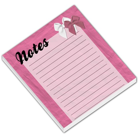 Pink Bows Notes By Angela   Small Memo Pads   Lzsxu4gpzodh   Www Artscow Com