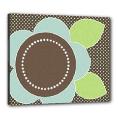 Brown and Blue Giant Flower Canvas 20x24 - Canvas 24  x 20  (Stretched)