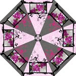 Pink & grey love umbrella 1 - Folding Umbrella