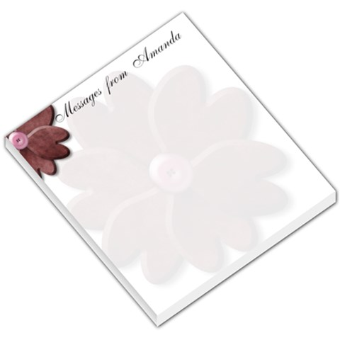 Messages From Amanda By Amanda Bunn   Small Memo Pads   Proubvi0qf2b   Www Artscow Com