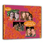Pink & Orange Collage Canvas 20x24 - Canvas 24  x 20  (Stretched)
