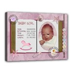 Newborn Baby Girl 16x12 Stretched Canvas - Canvas 16  x 12  (Stretched)