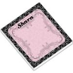 Pink Damask Memo Pad - Small Memo Pads