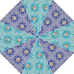 Shades of Blue Lace Umbrella - Folding Umbrella