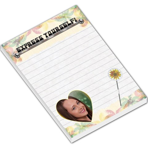 Express Yourself Large Memo Pad By Nery   Large Memo Pads   7syntg8rcif3   Www Artscow Com