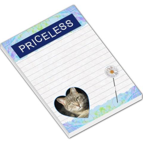 Priceless Large Memo Pad By Lil    Large Memo Pads   Rpskhj6fg9zl   Www Artscow Com