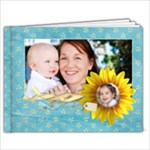 9x7 Summer/Sunfowers Album - 9x7 Photo Book (20 pages)