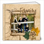 family picture book brown okel - 8x8 Photo Book (20 pages)