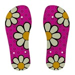 Flower Pink Chanclas - Women s Flip Flops