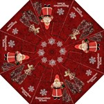 Vintage Santa Christmas314 red folding umbrella