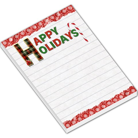 Happy Holidays Large Memo Pad By Lil    Large Memo Pads   Qvswli0xwivs   Www Artscow Com