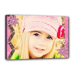 girl pink template - Canvas 18  x 12  (Stretched)