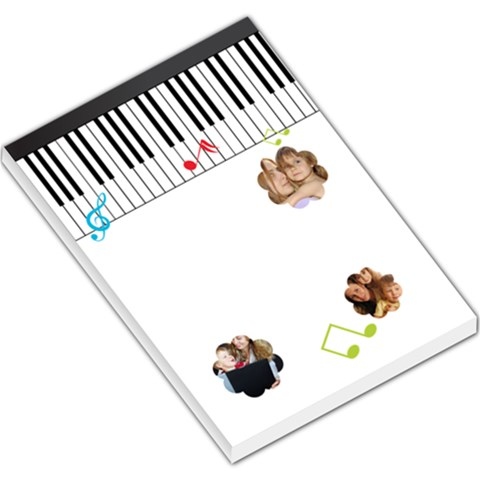 Music Kids By Wood Johnson   Large Memo Pads   Dl2t58wf4ero   Www Artscow Com
