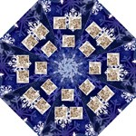 Let it snow midnight blue umbrella 2 - Folding Umbrella