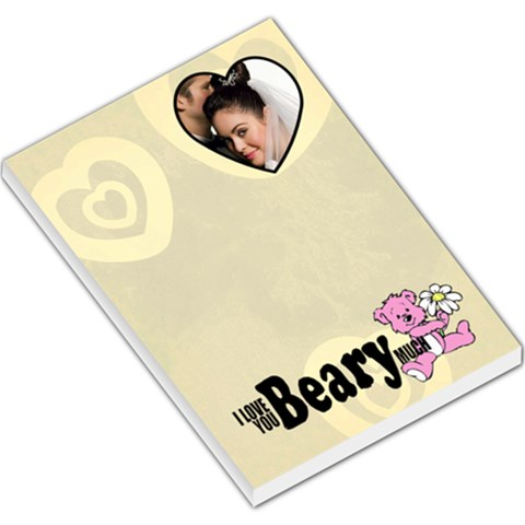 I Love You Beary Much   Memopad By Carmensita   Large Memo Pads   7xsvgthq00ku   Www Artscow Com