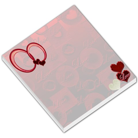 I Heart You Small Memo Pad  By Ellan   Small Memo Pads   Qky06galsb0b   Www Artscow Com