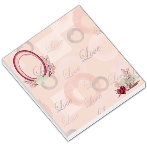 I Heart/love You Pink With Flowers Small Memo Pad  By Ellan   Small Memo Pads   S712z4p9tuc9   Www Artscow Com