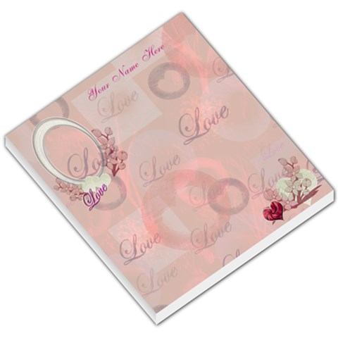 I Heart/love You Floral Pink Small Memo Pad  By Ellan   Small Memo Pads   Csjaabeoobtf   Www Artscow Com