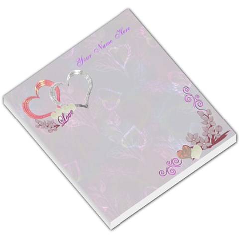 Floral Double Heart I Heart/love You Small Memo Pad  By Ellan   Small Memo Pads   2h2x0qx7wn8o   Www Artscow Com