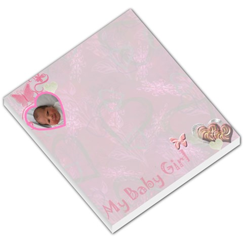 Baby Girl Pink Heart Small Memo Pad  By Ellan   Small Memo Pads   Efgx7vgub8fo   Www Artscow Com